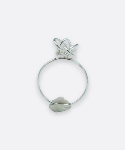 anillo tipo princesa realizado en plata de ley. joya hecha a mano. pieza única de autor realizada por la orfebre carla alfaia